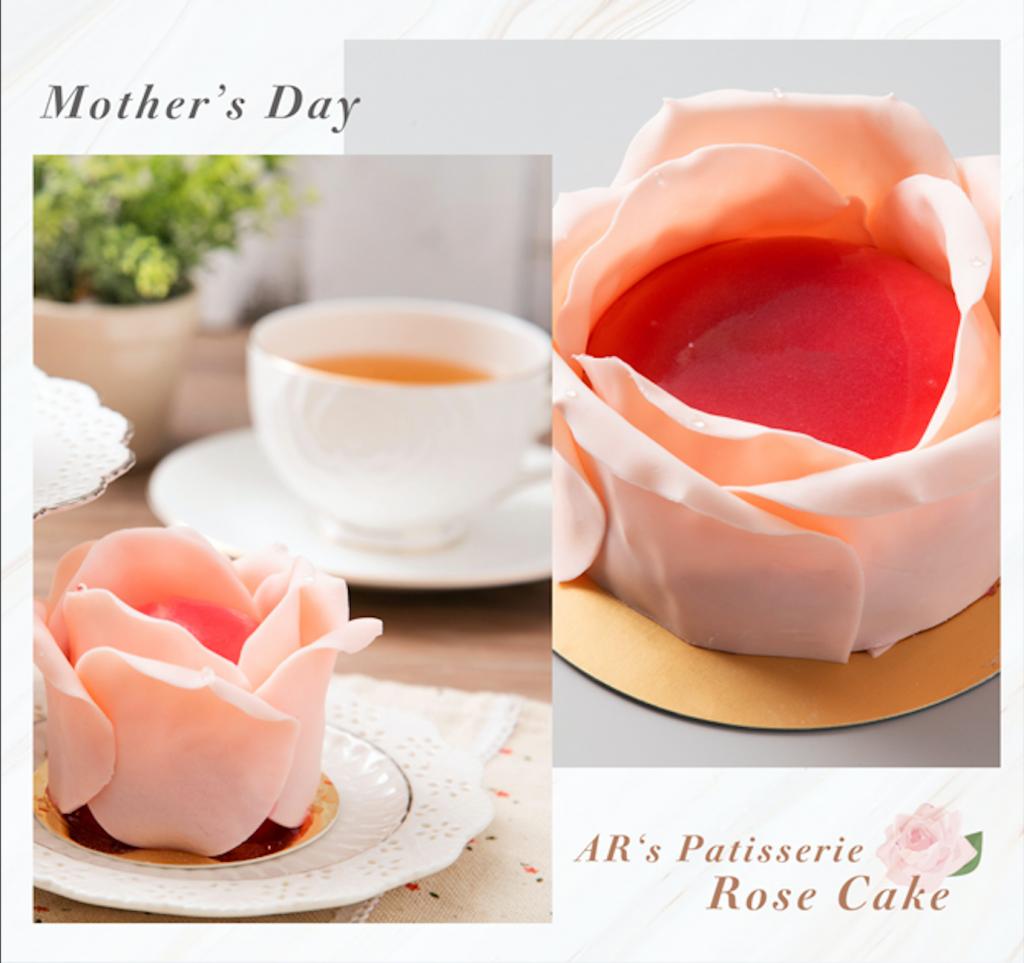母親節蛋糕推薦-法布甜玫瑰花蛋糕